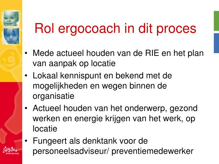 Rol ergocoach in dit proces