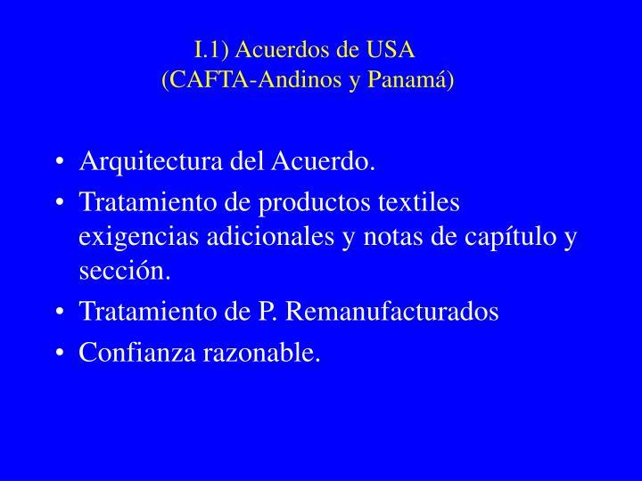 I.1) Acuerdos de USA