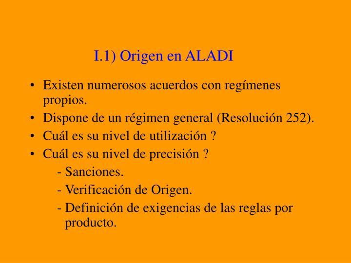 I.1) Origen en ALADI