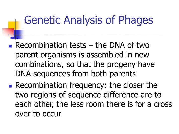 Genetic Analysis of Phages