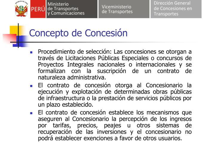 Concepto de Concesión