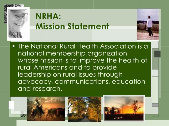 Nrha mission statement