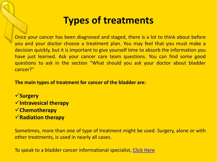 Types of treatments