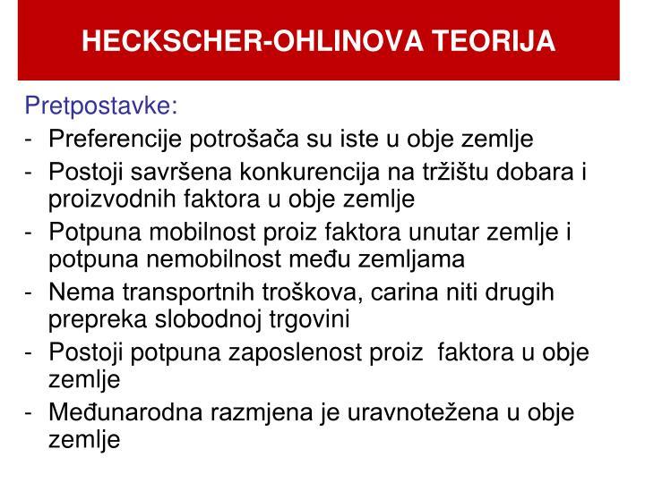 HECKSCHER-OHLINOVA TEORIJA