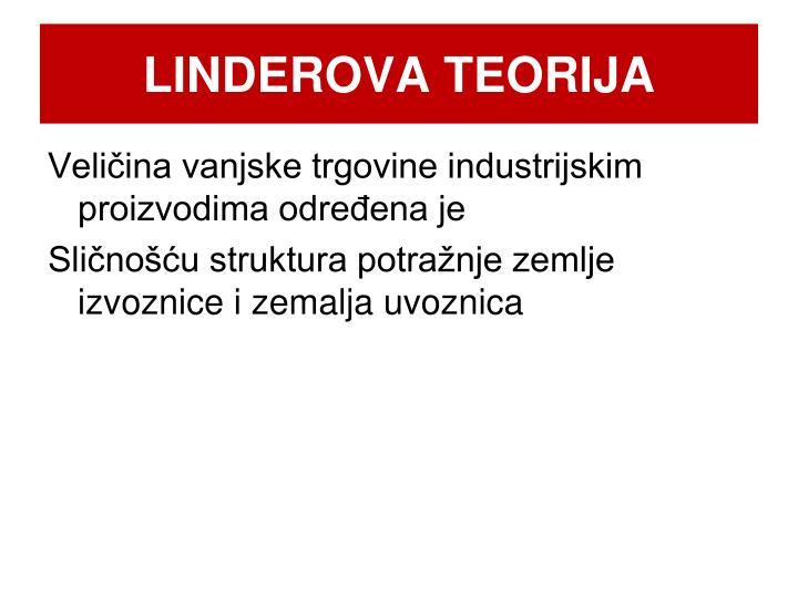LINDEROVA TEORIJA