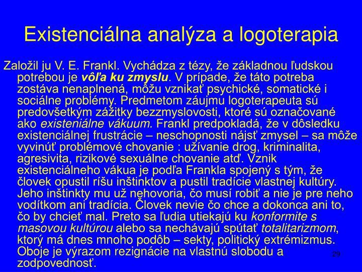 Existenciálna analýza a logoterapia