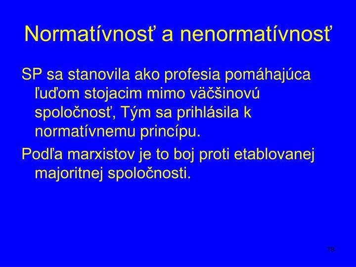 Normatívnosť a nenormatívnosť