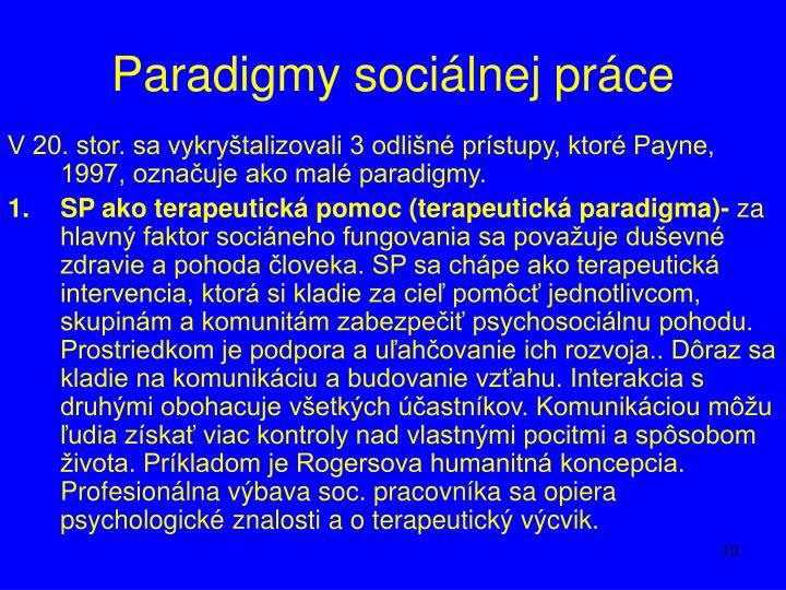 Paradigmy sociálnej práce