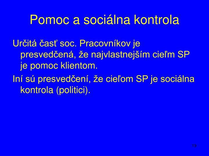 Pomoc a sociálna kontrola