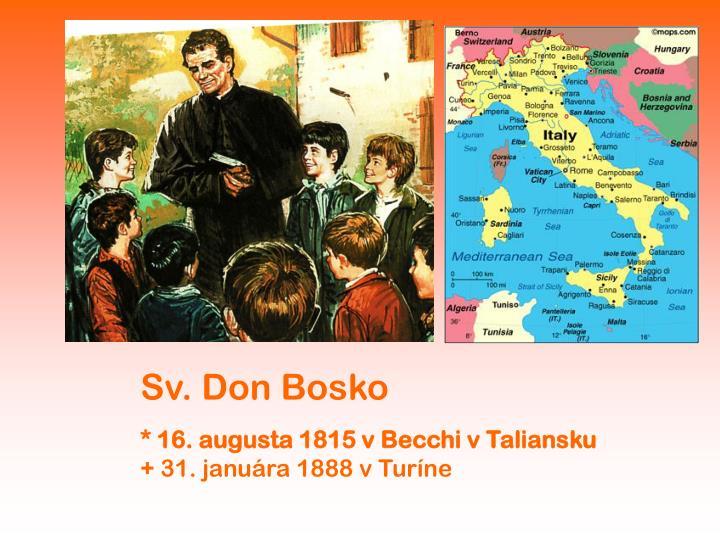 Sv. Don Bosko