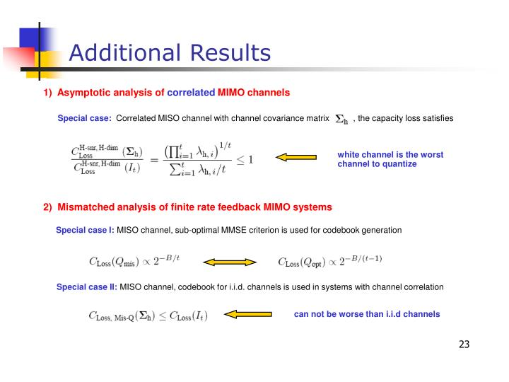 1)  Asymptotic analysis of