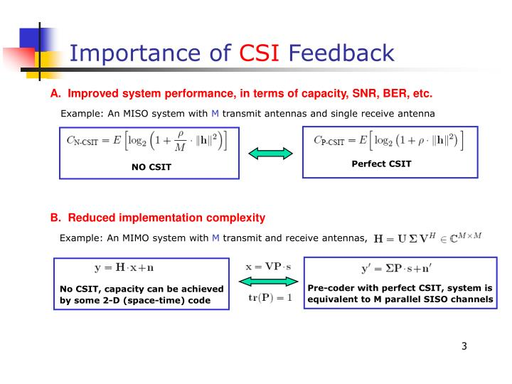 Importance of csi feedback