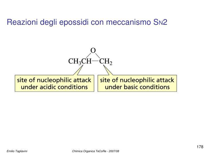 Reazioni degli epossidi con meccanismo S