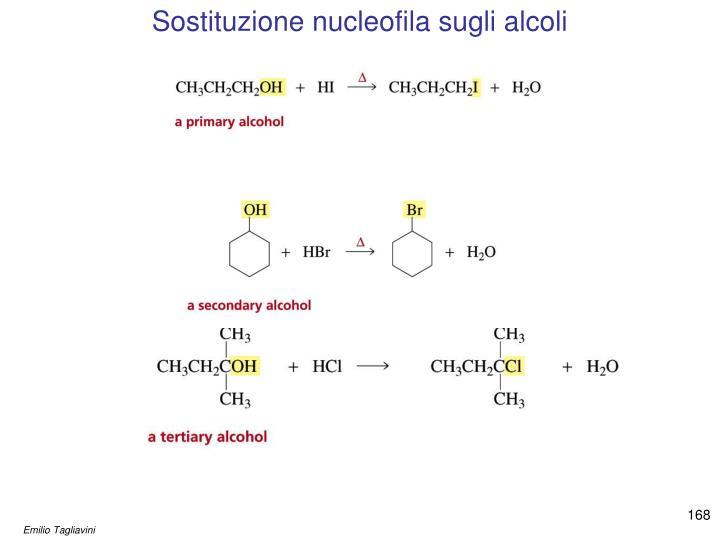 Sostituzione nucleofila sugli alcoli