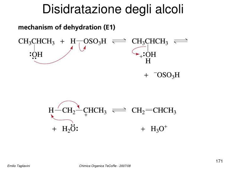 Disidratazione degli alcoli