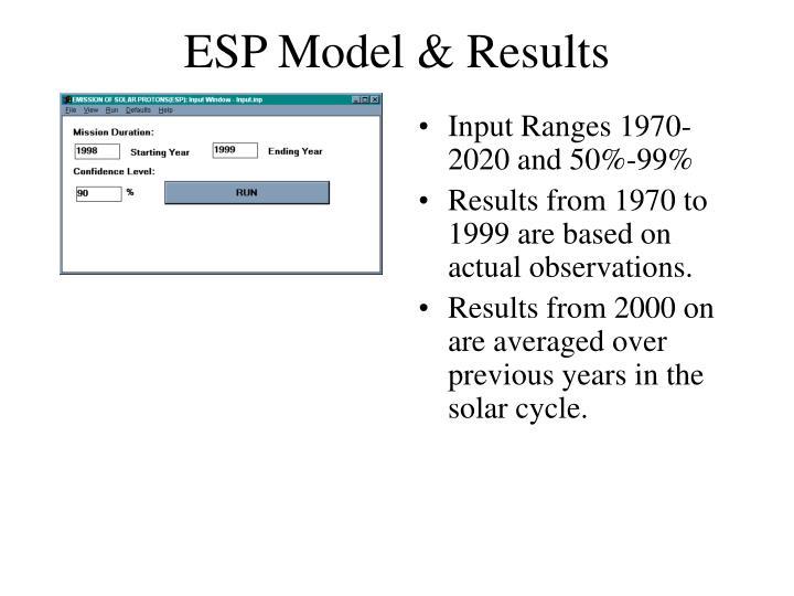 ESP Model & Results