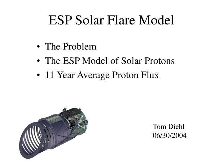 ESP Solar Flare Model