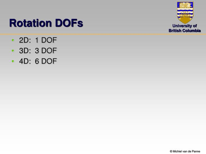 Rotation DOFs