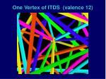 one vertex of itds valence 12