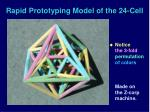 rapid prototyping model of the 24 cell