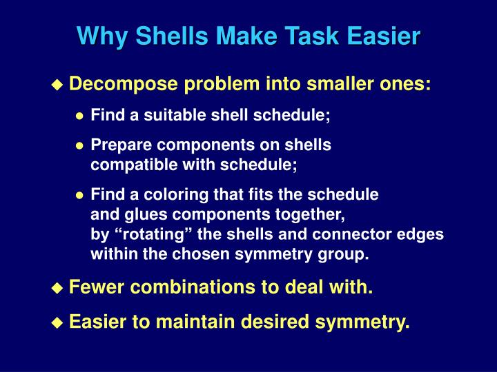 Why Shells Make Task Easier