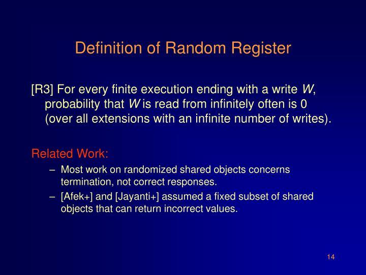 Definition of Random Register