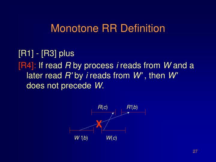 Monotone RR Definition