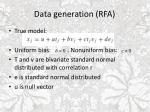 data generation rfa