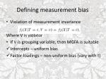 defining measurement bias