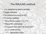 the rfa lms method