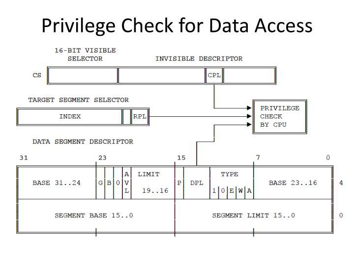 Privilege Check for Data Access