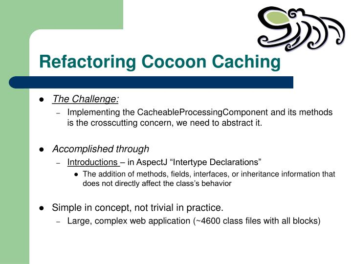 Refactoring Cocoon Caching