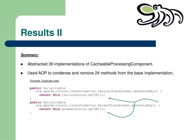 Results II