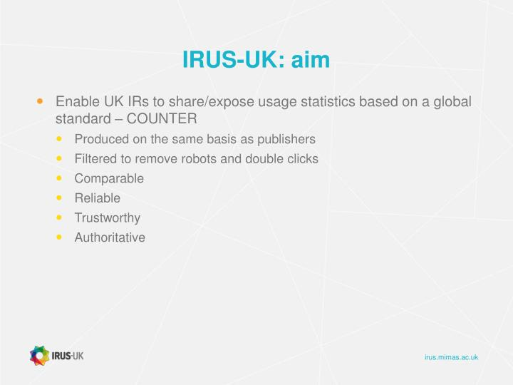 IRUS-UK: aim