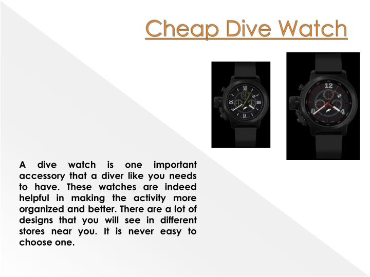Cheap Dive Watch