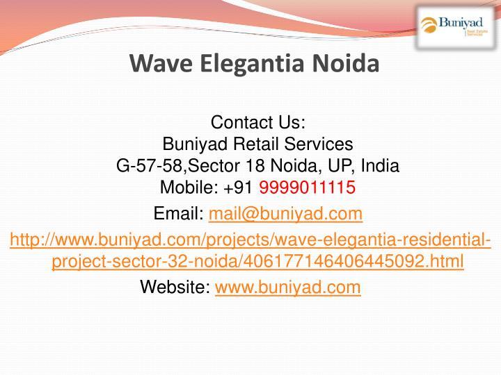 Wave Elegantia Noida