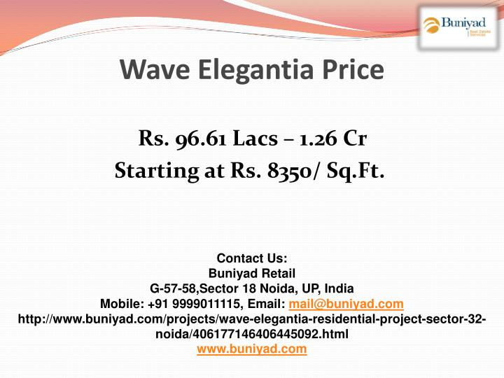 Wave Elegantia Price