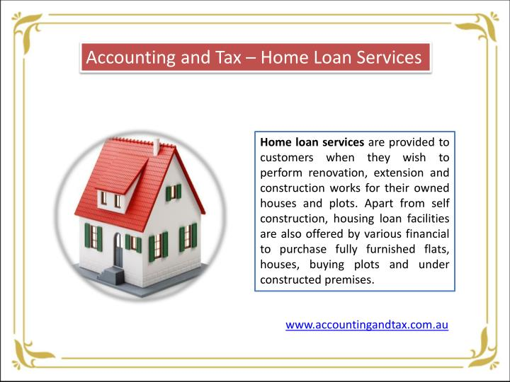 Accounting and Tax – Home Loan Services