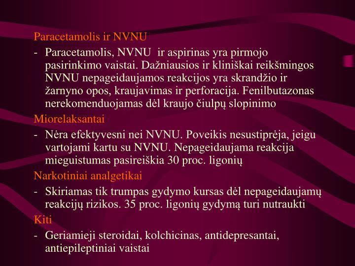 Paracetamolis ir NVNU