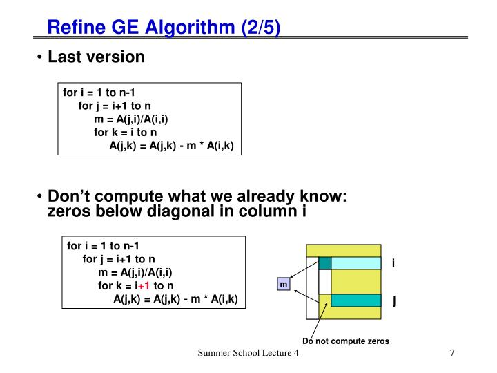 Refine GE Algorithm (2/5)