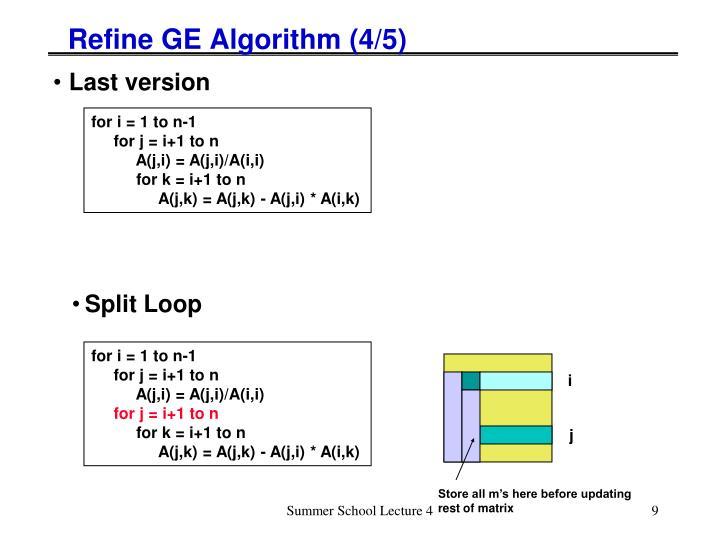Refine GE Algorithm (4/5)