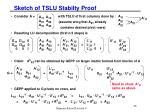 sketch of tslu stabilty proof