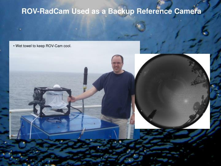ROV-RadCam Used as a Backup Reference Camera
