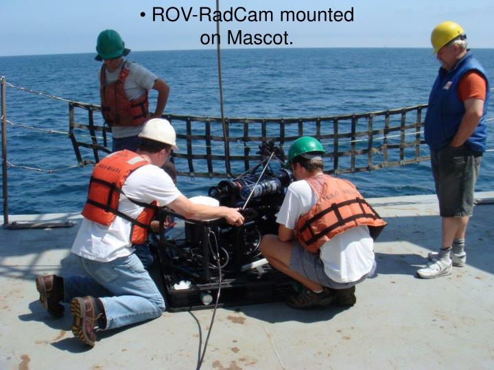 ROV-RadCam mounted on Mascot.
