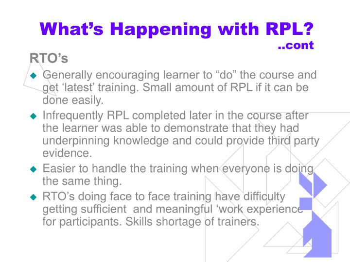 What's Happening with RPL?