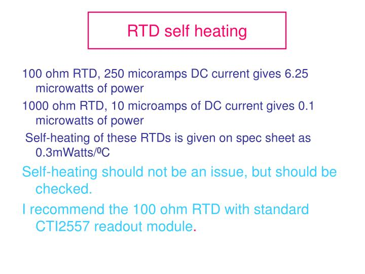 RTD self heating