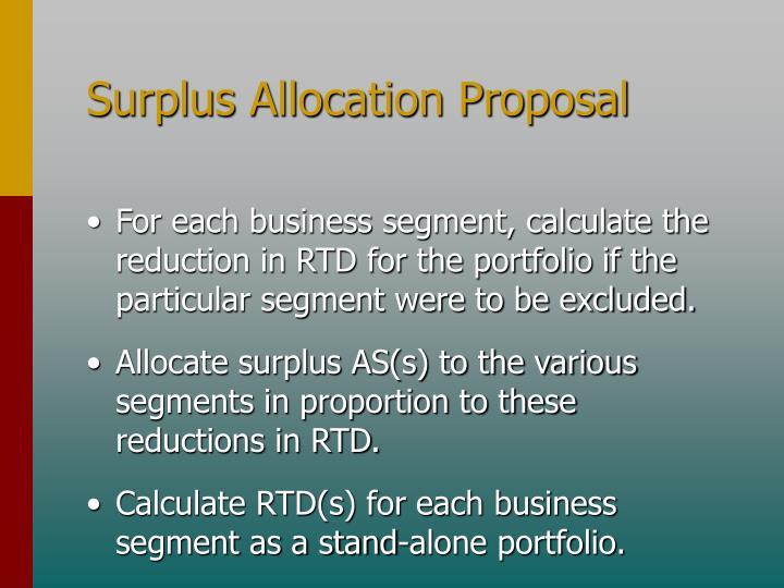 Surplus Allocation Proposal