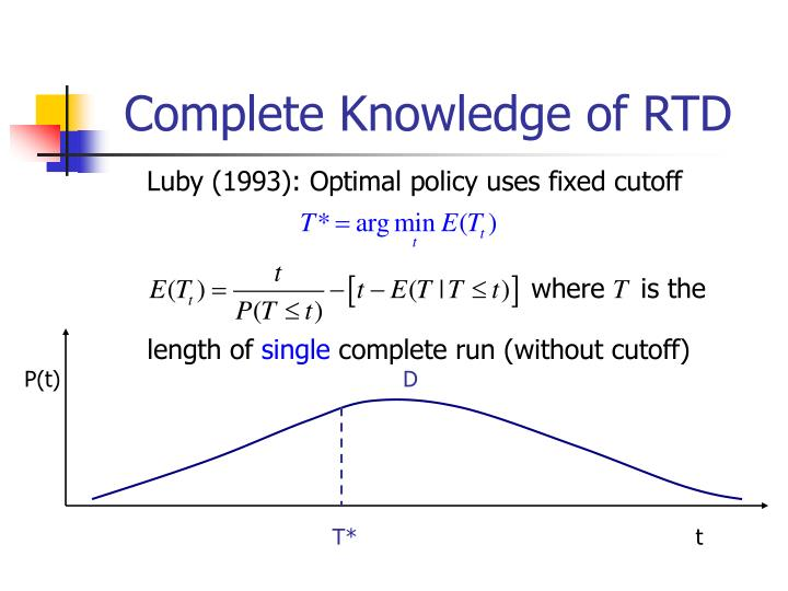 Complete knowledge of rtd