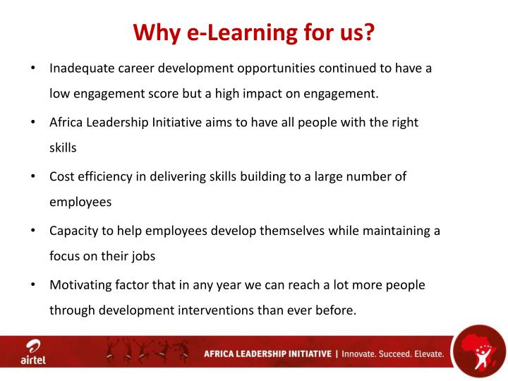 Why e-Learning for us?