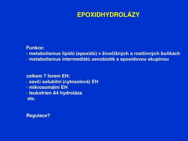 EPOXIDHYDROLÁZY